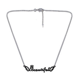 Wholesale Beautiful Any Personalized Name Necklace Alloy Pendant Alison Font Fascinating Pendant Piece Can Custom Name Necklace