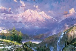Wholesale High tech Thomas Kinkade HD Print Oil Painting Art On Canvas twilight vista x24inch Unframed