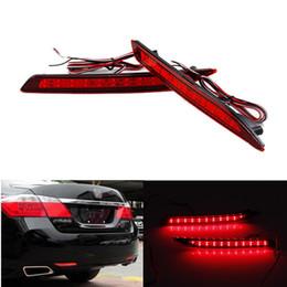 2pcs LED Red Rear Bumper Reflector Light Fog Parking Warning Brake Light Running Reversing Tail Lamp fit for Honda Accord 9th