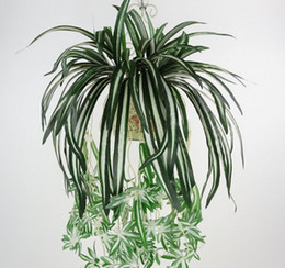Wholesale High Quality New Arrival Artificial bracketplant Plant Chlorophytum Comosum Faux Greenery Home Decoration