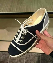 2016 Zapatos ocasionales de lujo de las alpargatas del canal del diseñador de los zapatos de