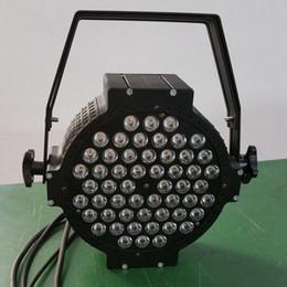 Free shipping 54X3W Cast aluminium High power Flat LED Par Cans RGB 3in1 Tri color Flat Par 64