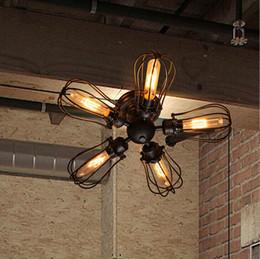 Wholesale Black Vintage Antique Metal Wall Lamp Black Iron Loft Antique Industrial Lamp Edison Bulb T45 E27 Retro Ceiling Light Grapefruit Wall Lamp