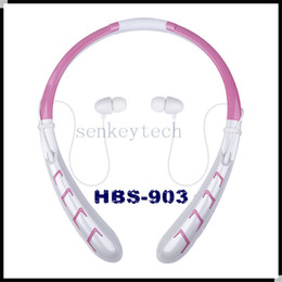 HBS 903 bluetooth headphones neckband sports wireless stereo headset HBS903 HBS-903 earphone with CSR chip 350mah battery in retail box