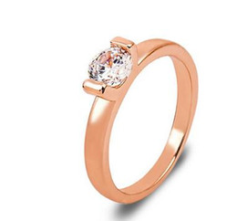 fashion rose gold zircon ring Ladies rose gold jewelry diamond ring personalized fashion jewelry high-end jewelry ring size 5 6 7 8 hot sale