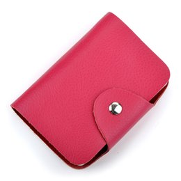Wholesale 12 colors slots fashion new ID bank card case wallet leather card holder