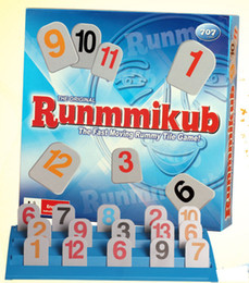 Wholesale fun rummikub board game family party travel set rummy educational toy the fast moving rummy tile game toys
