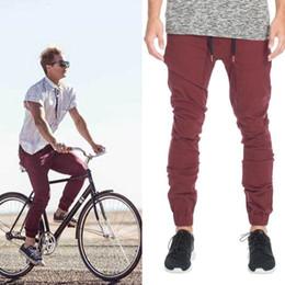 New Designer Mens Harem Joggers Sweatpants Elastic Cuff Drop Crotch Drawstring Biker Joggers Maroon Khaki Black Green Jogging Pants Men