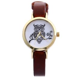 Simple Style Small Leather Band Watches for Woman Quartz Casual Analog Lady Round Dial Womens Watch