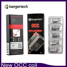 New Kanger Vertical Subtank OCC Coil Upgraded Subtank Coil 0.5 1.2 1.5ohm fit Kangertech Subtank Mini Nano Plus tank DHL Free 0266021