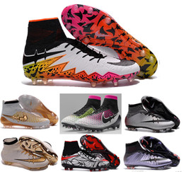 Wholesale 2016 tf turf Superfly FG AG Soccer Shoes High Ankle Football Boots ACC Men Outdoor Superfly CR7 Cleats With Socks