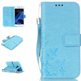 Skin Pocket Handbag Flower Shell PU Leather Stand Wallet Book With 3 Card Slots Cover Case For Samsung Galaxy S7  S7 Edge Cellphone Cases