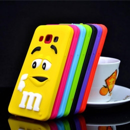Wholesale-For Samsung Galaxy A3 A3000 Case M&M'S Chocolate Candy Silicone Rubber Cases Covers Phone Case