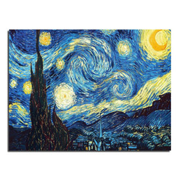 Wholesale Van Gogh star x30 full square drill diamond painting pictures of rhinestones set of embroidery kits new needlework
