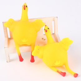 Wholesale Creative fun toys whimsy vent under the chicken laying hens industries funny extrusion street source of children gifts