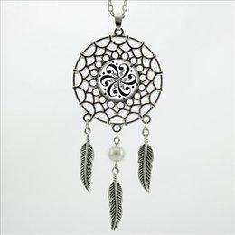 Wholesale 2016 Trendy Style Treble and Bass Clef Mandala Necklace Dream Pendant Jewelry Dream Catcher Pendant Necklace DC