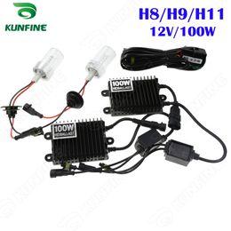 12V 100W Xenon Headlight H8 H9 H11 For Vehicle Headlight HID Conversion xenon Kit Car HID light with AC ballast KF-K2002-H8