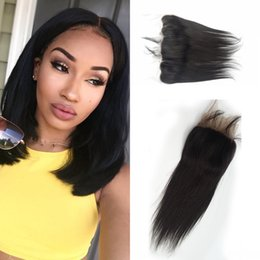 Lace Frontal Closure Human Brazlian Lace Front Human Hair Lace Frontals Closure Straight Human Hair LaurieJ Hair