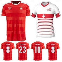Wholesale Thailand Quality European Cup Switzerland Home Away Soccer Football Jerseys INLER SEFEROVIC XHAKA RODRIGUEZ DERDIYOK