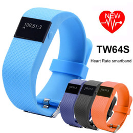 Wholesale Heart Rate Pulse SmartBand TW64S Pulso Inteligente Banda Pulse Measure Smart Band Sport Smart Wristband Health Fitness Tracker DHL OTH229