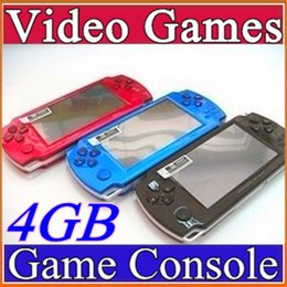 Wholesale FREE Built in games GB Inch PMP Handheld Game Player MP3 MP4 MP5 Player Video FM Camera Portable Game Console C YXJ