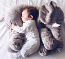 Wholesale retail elephant pillow baby doll children sleep pillow birthday gift INS Lumbar Pillow Long Nose Elephant Doll Soft Plush cm