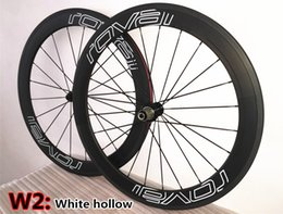Wholesale Best selling Hollow White logo UD Roval mm carbon bike wheels with mm width A271 hub road bicycle carbon wheelset