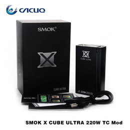 Wholesale Smok X Cube Ultra w Box Mod cube Ultra Temperature Control Mechanical Mod fit for Smok Helmet TFV8 Baby Tank Original