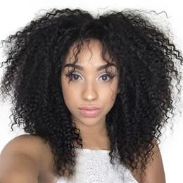 Brazilian Kinky Curly Human Hair Wigs Glueless Full Lace Hair Wigs Afro Kinky Curly Lace Front Wigs For Black Woman