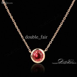 Red Crystal Necklaces & Pendants Imitation Gemstone Fashion Brand Vintage Jewelry For Women Chains Accessiories Wholesale DFN453