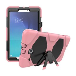 For Funda Tablet Samsung Galaxy Tab E 9.6 Case Cover T560 T561 Durable Silicone+PC Hybrid Rugged Shockproof Water Repellent Case