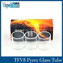 Wholesale Original Smok TFV8 Glass Tube TFV8 Baby Pyrex Replacement Glass Sleeve From Vapethink