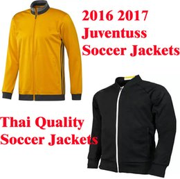 Wholesale Benwon Juventuss black soccer coats full sleeve athletic football jackets thai quality winter coats adult s leisure sports hoodies