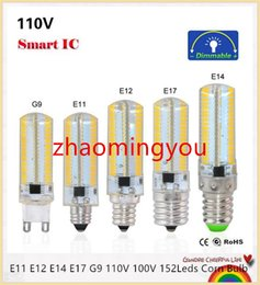 YON Dimmable Led Light E11 E12 E14 E17 G9 110V 220V 152Leds Corn Bulb Silicone Lamps Crystal Candle For Chandeliers Lighting