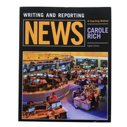 Wholesale 2016 Latest Books Wrting and Reporting NEWS A coaching method carole rich Eight Edition P496 DHL