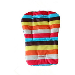 Wholesale Baby Infant Stroller Pushchairs Cushion Colorful Striped Soft Car Seat Pad Mat Brand New And Good Qiuality