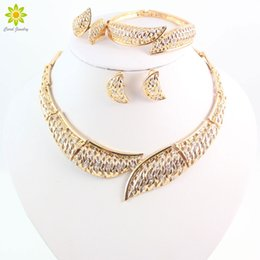 18k Gold Jewelry Sets Women Necklace African Jewelry Sets For Wedding Party Costume Jewellery Wedding Brides
