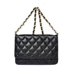 Wholesale Classical Woc Bag On Chain Women Genuine Caviar Patent Leather Lambskin Mini Flap Designer Handbags With Diamond Lattice Stitching Line CC34