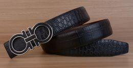 Wholesale 2016 New Fashion Mens Business Belts Luxury Ceinture Automatic Buckle Genuine Leather Belts For Men Waist Belt