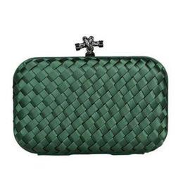 Mesdames étoiles de luxe 100% nouveau fait à la main dame de tricot Knot Clutch Evening Bag Mode Femmes Soirée Forme Cluthes Livraison gratuite sac XP73 à partir de women formal clutch fabricateur