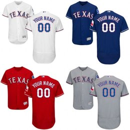 Wholesale 2016 Flexbase Custom Men s Texas Rangers cool base Authentic Collection Personalized Double Stitched Baseball Jersey S XL