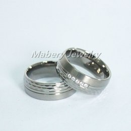 Wholesale Promised ring of stainless steel titanium ring fashional popular hammer ring for engagement couple rings best gift for his for hers