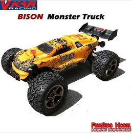 Wholesale Scale Rc Trucks - VKAR Bison 1:10 Scale Waterproof 4WD Off-Road High speed electronics remote control Monster Truck,rc racing cars