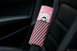 Wholesale 10 Seat belt shoulder cartoon cute short plush Automotive supplies manufacturer baby is sleeping TRQ0142