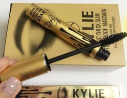 Wholesale Kylie Magic Thick Slim Waterproof Mascara Charming Eyes Roll Out The Shiny Eyelashes Cosmetic Gold Birthday