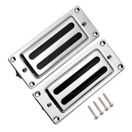 Wholesale Mini Humbucker Pickups Bridge Neck Set for Rickenbacker Guitar Parts Chrome