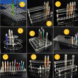 Wholesale Acrylic Display Racks Stands For Ecig Store Ego T Batteries Atomizers Tanks EVOD E Cigarette Kits Vape Mods Holder Shelf Detachable Racks