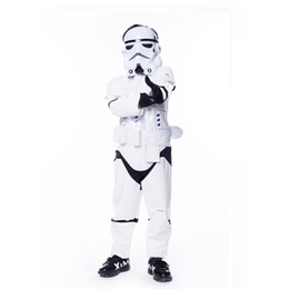Wholesale New Arrival Child Deluxe Star Wars The Force Awakens Storm Troopers Halloween Costume Kids Cosplay Party Fancy Dress