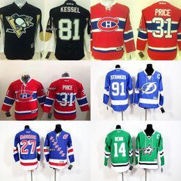 Wholesale 2016 Kids price red Tampa Bay Lightning stamkos blue New York Rangers mcdonagh Dallas Stars benn green kessel Kids