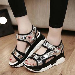Summer Ladies summer beautful leisure shoes flat sandals girls muffin 2017 new all-match shoes women shoes